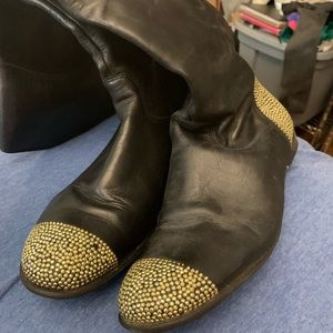 CIAO BLACK LEATHER BOOTS